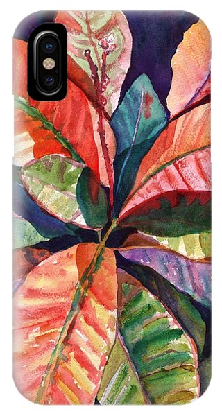 Colorful Tropical Leaves 1 IPhone Case