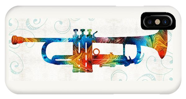 Colorful Trumpet Art Color Fusion By Sharon Cummings IPhone Case