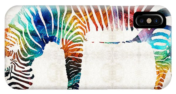 Colorful Zebra Art By Sharon Cummings IPhone Case