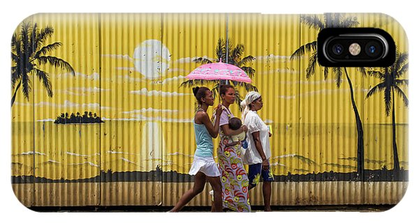 Umbrella iPhone Case - Colors In Africa by Gloria Salgado Gispert