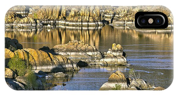 Colors In The Rocks At Watsons Lake Arizona IPhone Case