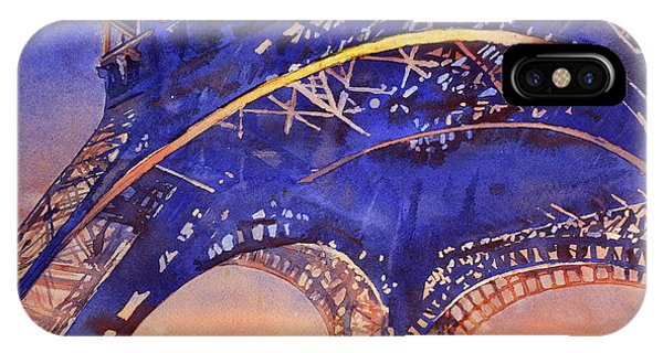 Colors Of Paris- Eiffel Tower IPhone Case