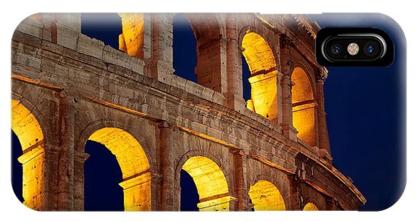 Colosseum And Moon IPhone Case