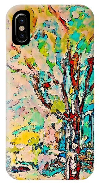 Colourful Cherry Tree IPhone Case