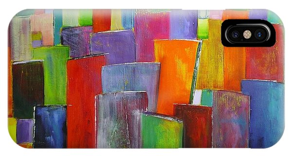Colour Block 3 Painting IPhone Case