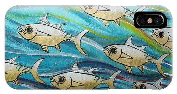 Coloured Water Fish IPhone Case