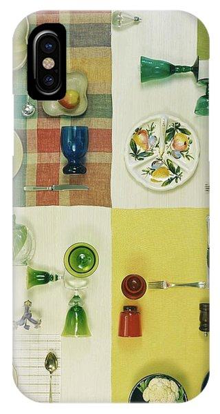 Colourful Table Settings IPhone Case