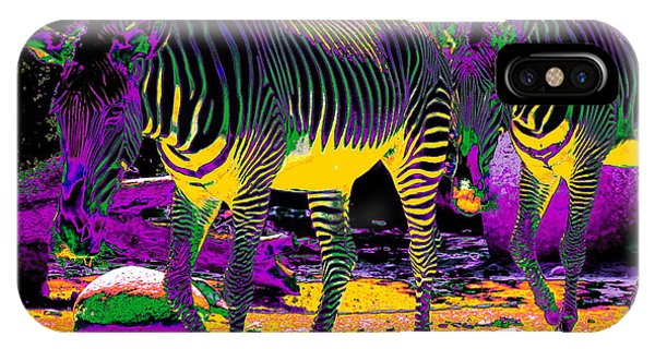 Colourful Zebras  IPhone Case