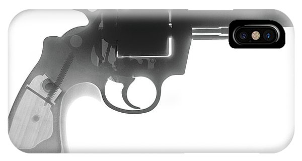Calico M100 iPhone Case - Colt 357 Magnum X Ray Photograph by Ray Gunz
