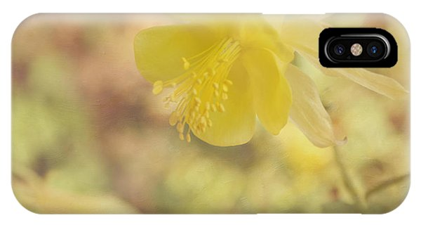 Yellow Trumpet iPhone Case - Columbine Flower by Kim Hojnacki