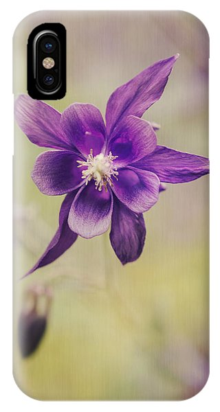 Susann Serfezi iPhone Case - Columbine Flower by AugenWerk Susann Serfezi