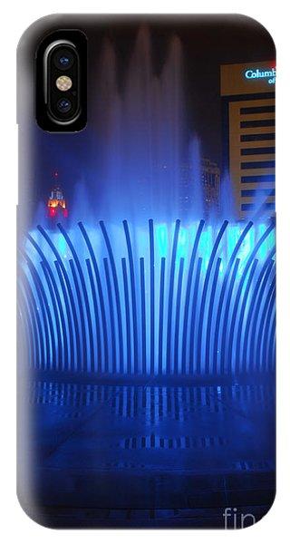 D101l-122 Scioto Mile Fountain Photo IPhone Case
