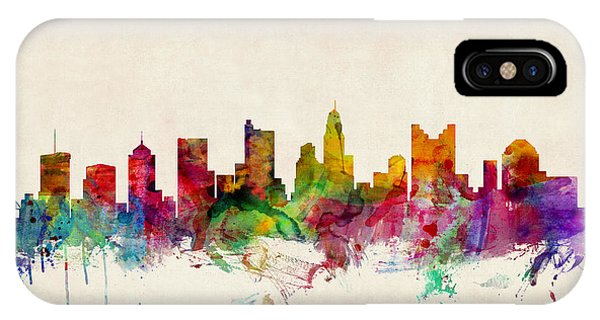Columbus Ohio Skyline IPhone Case