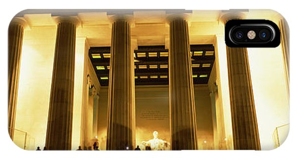 Lincoln Memorial iPhone Case - Columns Surrounding A Memorial, Lincoln by Panoramic Images