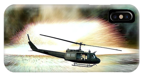 Helicopter iPhone X Case - Combat Helicopter by Olivier Le Queinec