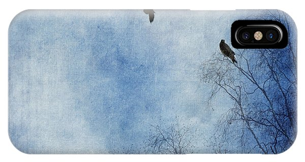 Blue iPhone Case - Come Fly With Me by Priska Wettstein