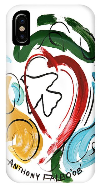 IPhone Case featuring the painting Come Into My Heart by Anthony Falbo