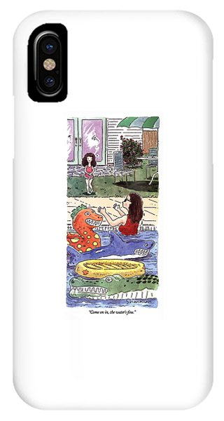 Come On In, The Water's Fine IPhone Case