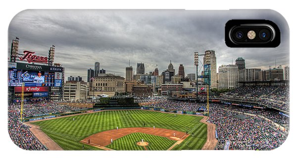 Tiger iPhone Case - Comerica Park Home Of The Tigers by Shawn Everhart
