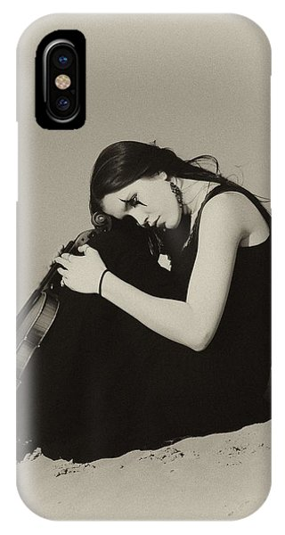 Violin iPhone X Case - Comfort In The Desert by Gun Legler