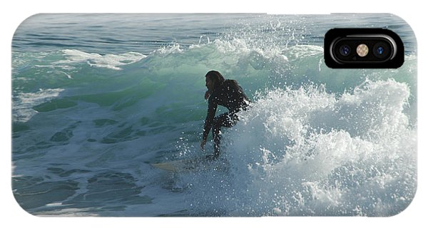 Santa Cruz Surfing iPhone Case - Coming Out Of The Curl by Donna Blackhall