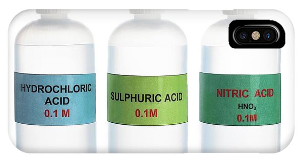 0 iPhone Case - Common Acids by Science Photo Library