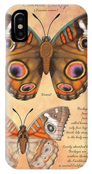 Common Buckeye Butterfly  Phone Case by Tammy Yee