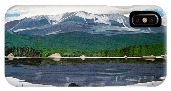 Common Loon On Togue Pond By Mount Katahdin IPhone Case