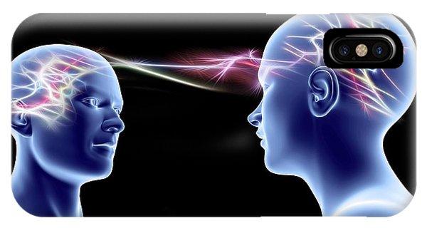 Neurology iPhone Case - Communication by Pasieka