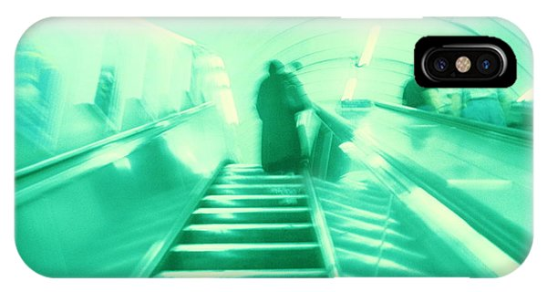 Commute iPhone Case - Commuters On An Escalator by Bettina Salomon/science Photo Library