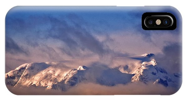 Comox Glacier And Morning Mist IPhone Case