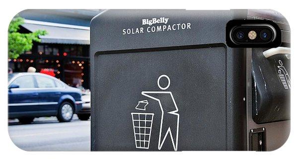 Rubbish Bin iPhone Case - Compactor Bin by John Greim/science Photo Library