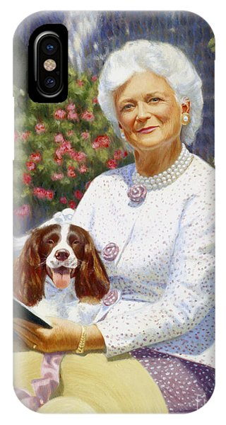 George Bush iPhone Case - Companions In The Garden by Candace Lovely