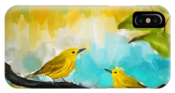 Warbler iPhone Case - Companionship by Lourry Legarde