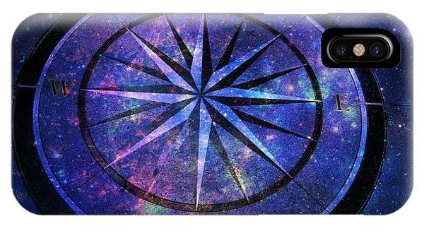 Compass With A Galaxy IPhone Case