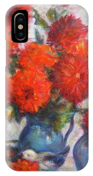 Complementary - Original Impressionist Painting - Still-life - Vibrant - Contemporary IPhone Case