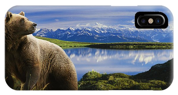 Composite Grizzly Stands In Front Of IPhone Case