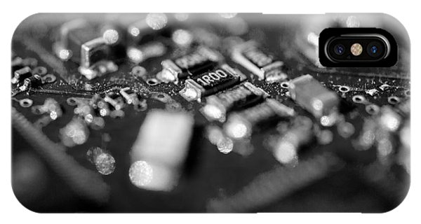 It Professional iPhone Case - Computer Board Black And White by Iris Richardson