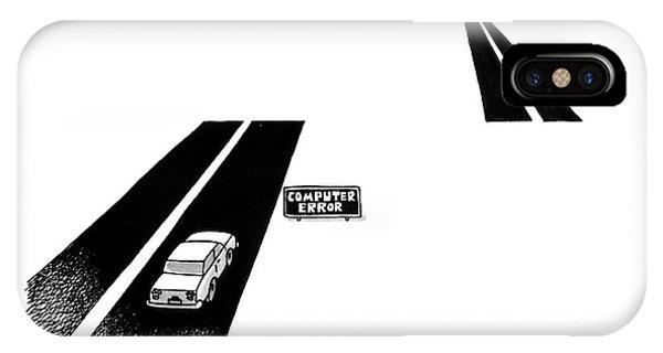 Highway iPhone Case - 'computer Error' by Jack Ziegler