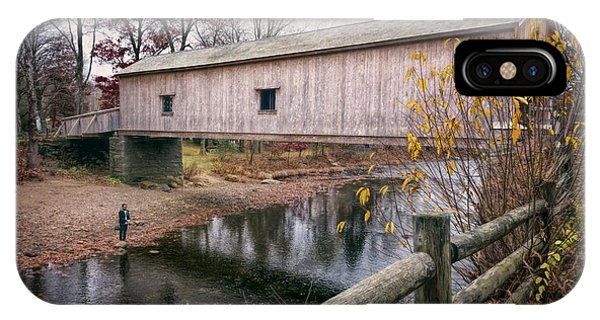 Covered Bridge iPhone Case - Comstock Covered Bridge by Joan Carroll