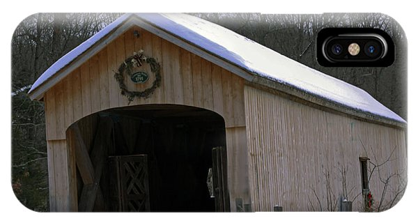 Comstock Covered Bridge Winter 2015 1 IPhone Case