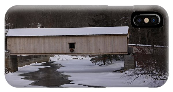 Comstock Covered Bridge Winter 2015 2 IPhone Case