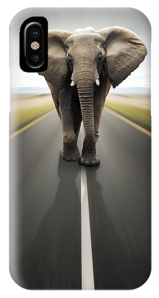 Middle iPhone Case - Heavy Duty Transport / Travel By Road by Johan Swanepoel