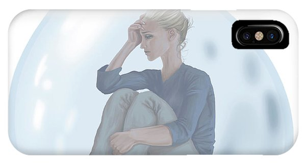 Anguish iPhone Case - Conceptual Illustration Of Loneliness by Fanatic Studio / Science Photo Library
