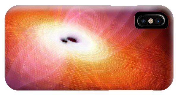 Conceptual Image Of Gravitational Waves Phone Case by Mark Garlick