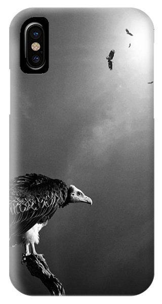 Avian iPhone Case - Conceptual - Vultures Awaiting by Johan Swanepoel