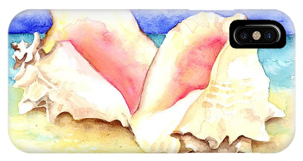 Conch Shells On Beach IPhone Case