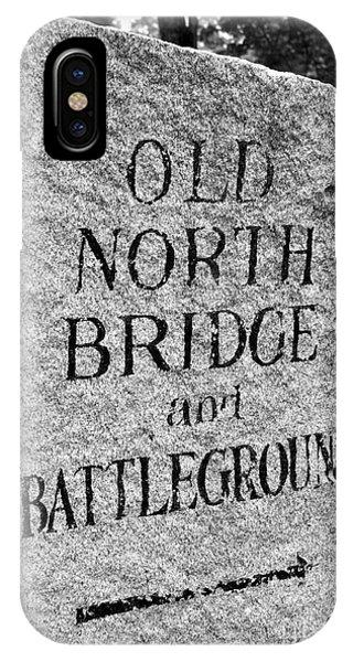 Concord Ma Old North Bridge Marker Black And White IPhone Case