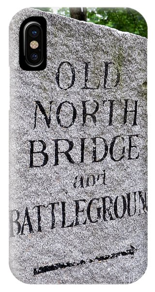 Concord Ma Old North Bridge Marker IPhone Case