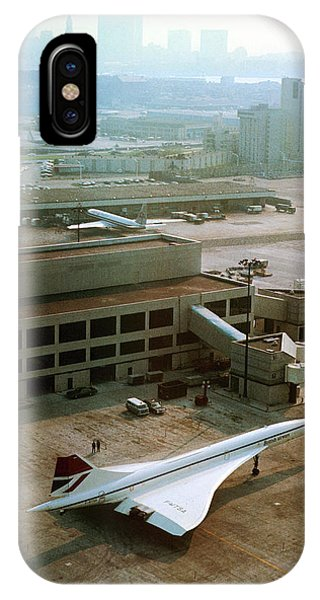 Concorde iPhone Case - Concorde At An Airport by Us National Archives